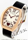 5002 Frank Muller heart toe heart PG pure gold black co-leather black / silver Lady's M QZ C 6H