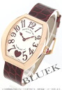 5002 Frank Muller heart toe heart PG pure gold black co-leather Bordeaux / silver Lady's M QZ C 6H