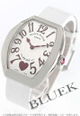 5002 Frank Muller heart toe heart WG pure gold black co-leather white / silver Lady's M QZ 6H