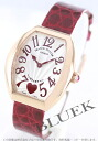 Frank Muller heart toe heart PG pure gold black co-leather Bordeaux / silver Lady's 5,002L QZ C 6H
