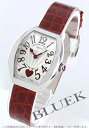 5002 Frank Muller heart toe heart black co-leather red / silver Lady's S QZ C 6H