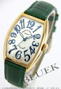 5850 Xmas sale ★ フランクミュラートノーカーベックスサンセット YG pure gold automatic black co-leather green / silver Boys SC