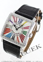6002 Frank Muller master square colored races Rihm's diamond bezel black / silver Lady's M QZ COL DRM R D 1R