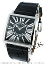 6002 Frank Muller master square relief black co-leather black Lady's M QZ REL R