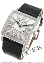 Rakuten Japan sale ★ Franck Muller master, relief, diamond crocodile leather Black / Silver ladies 6002 M QZ