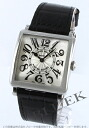 Franck Muller master crocodile leather Black / Silver Arabic ladies 6002 M QZ V