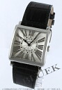 6002 Frank Muller master square relief black co-leather black / silver Arabia Lady's M QZ R