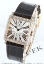 Franck Muller master PG pure gold DIA Basel relief crocodile leather Brown / silver ladies 6002 SQ Z D