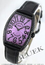 7502 Frank Muller black magic WG pure gold diamond mon doc local people leather black / purple Boys QZ D