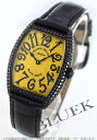 7502 Frank Muller black magic WG pure gold diamond mon doc local people leather black / yellow Boys QZ D