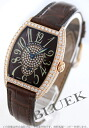 Franck Muller ダブルパスティーユ PG pure gold diamond hand wrapped crocodile leather brown / red boys 7502 S6 D CD