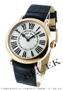 8035 Frank Muller rondo PG pure gold black co-leather black / silver Lady's QZ R