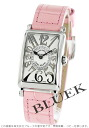 902 Frank Muller Long Island relief diamond mon doc local people leather pink / silver Lady's QZ REL CD 1R watch clocks