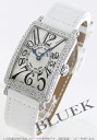 Rakuten Japan sale ★ Franck Muller Long Island DIA Basel crocodile leather white / silver ladies 902 QZ D
