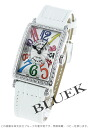 902 Frank Muller Long Island colored races Rihm's diamond bezel enamel leather white / silver QZ COL DRM D 1R