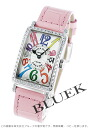 902 Frank Muller Long Island colored races Rihm's diamond bezel leather pink / silver Lady's QZ COL DRM D 1R