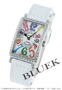 902 Frank Muller Long Island colored races Rihm's diamond bezel leather white / silver Lady's QZ COL DRM D 1R