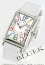 902 Frank Muller Long Island magic color black co-leather white / silver Lady's QZ