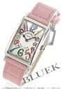 902 Frank Muller Long Island magic color black co-leather pink / silver Lady's QZ MAG COL