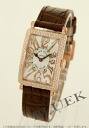 Franck Muller FRANCK MULLER Long Island relief diamond pure gold crocodile leather ladies 902 REL QZ wristwatch watch