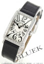 902 Frank Muller Long Island diamond bezel black co-leather black / silver Lady's QZ D 1R