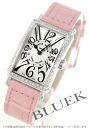 902 Frank Muller Long Island diamond bezel black co-leather pink / silver Lady's QZ D 1R