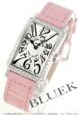 902 Frank Muller Long Island diamond bezel black co-leather pink / silver Lady's QZ D 1R