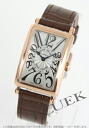 902 Frank Muller Long Island PG pure gold black co-leather brown / silver Lady's QZ
