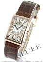 Franck Muller Long Island relief PG pure gold crocodile leather Brown / silver ladies 902 QZ REL