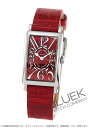 902 Frank Muller red carpet black co-leather red Lady's QZ
