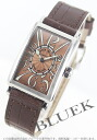 902 Frank Muller long eye orchid doc local people leather light brown Lady's QZ