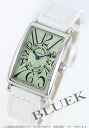 Franck Muller Long Island leather white / light green ladies 902 QZ