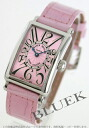 Franck Muller Long Island crocodile leather Pink ladies 902 QZ