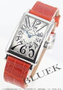 902 Frank Muller long eye orchid doc local people leather orange / silver Lady's QZ
