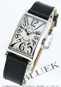 Rakuten Japan sale ★ Franck Muller Long Island crocodile leather Black / Silver ladies 902 QZ