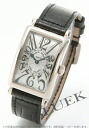 Franck Muller Long Island leather black /WG silver ladies 902 QZ