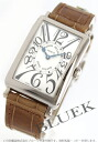 Franck Muller Long Island WG Wilsdorf crocodile leather Brown / silver ladies 950 QZ