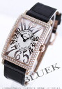 Two 952 Frank Muller Long Island relief PG pure gold die yak local people leather black / silver Lady's QZ REL D
