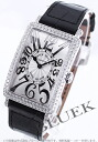Two 952 Frank Muller Long Island relief WG pure gold die yak local people leather black / silver Lady's QZ REL D