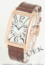 Franck Muller Long Island PG pure gold crocodile leather Brown / silver boys 952 QZ