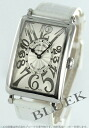 Franck Muller Long Island relief crocodile leather white / silver 952 QZ REL