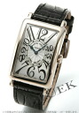 Franck Muller Long Island WG Wilsdorf crocodile leather Black / Silver boys 952 QZ