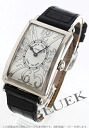 Franck Muller Long Island relief WG Wilsdorf crocodile leather Black / Silver 952 QZ REL