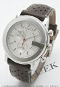 Gucci YA101 chronograph leather dark brown / silver mens YA101312