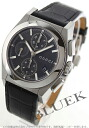 Gucci YA115 Pantheon chronograph with crocodile leather black / dark gray mens YA115207