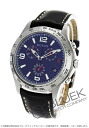 Gucci YA126 G thymeless chronograph leather black / blue men YA126223