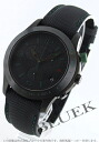 Rakuten Japan sale ★ Gucci YA126 G timeless chronograph tachymeter leather black mens YA126225