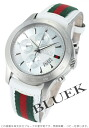 Gucci YA126 G thymeless automatic chronograph leather white & red & green men YA126227
