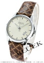 Gucci YA126 G thymeless automatic leather brown / ivory men YA126421