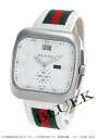 Gucci YA131 Gucci Coupé big date small seconds leather white mens YA131303